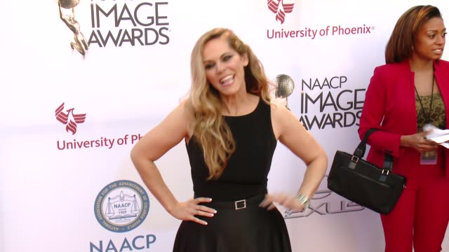 stockvideo's en b-roll-footage met summer moore at the 46th annual naacp image awards arrivals at pasadena civic auditorium on february 06 2015 in pasadena california - pasadena civic auditorium