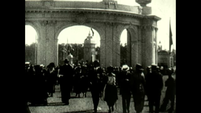 summer olympics opening ceremony in antwerp belgium featuring the american team - 1920 stock-videos und b-roll-filmmaterial