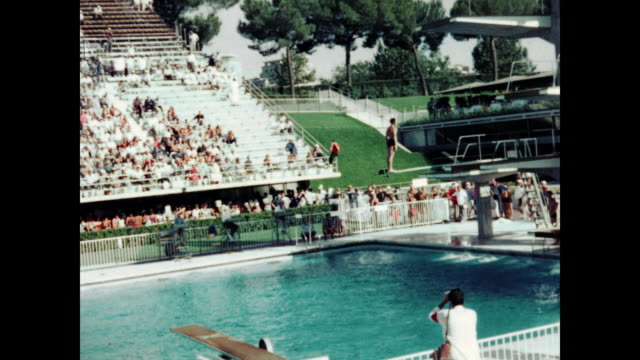 1960 summer olympics, rome - diving platform stock videos and b-roll footage