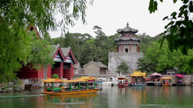 summer palace and kunming lake, beijing, china - summer palace beijing stock videos & royalty-free footage