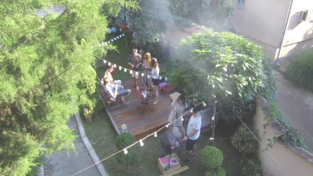 festa estiva all'aperto - caucasico video stock e b–roll