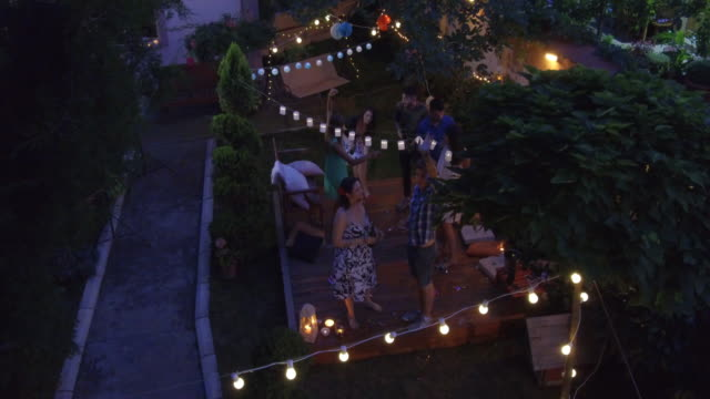 summer party outdoors - garden party stock videos & royalty-free footage