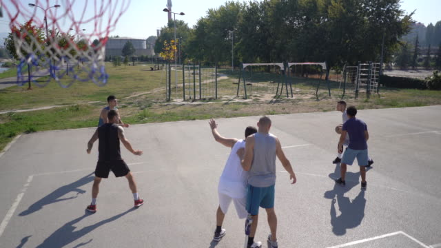 summer playing - shooting baskets stock videos & royalty-free footage