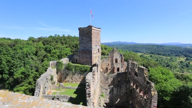 vidéos et rushes de summer, roetteln castle, haagen, district of lorrach, baden-wuerttemberg, germany, europe - xième siècle