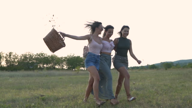 summer runaway - female friendship stock videos & royalty-free footage