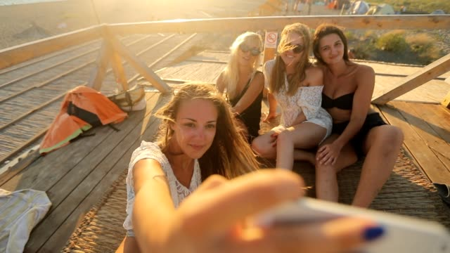 summer selfie - photographing stock videos & royalty-free footage