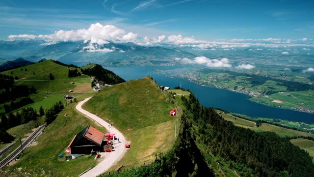 stockvideo's en b-roll-footage met summer time in rigi kulm and pilatus mountain - zwitserland