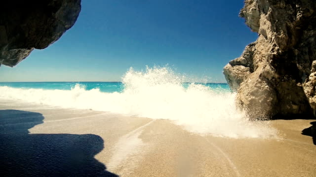 summer vacation on a beach. - greece stock videos & royalty-free footage
