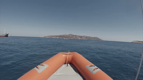 summer vacations in mediterranean sea: pov riding inflatable boat rib - speed boat stock videos & royalty-free footage