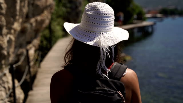 summer vacation-young woman walking,super slow motion - cinemanis videography stock videos & royalty-free footage