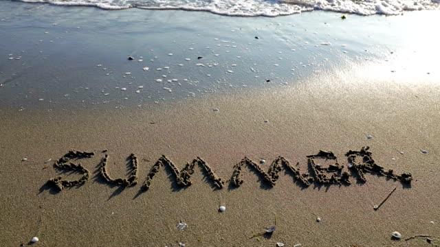 stockvideo's en b-roll-footage met zomer - bord bericht