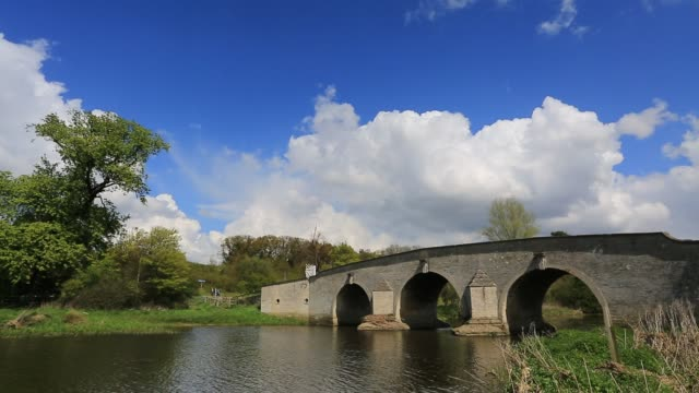 Summer view of the river Nene, Ferry meadows country park, Peterborough, Cambridgeshire, England.