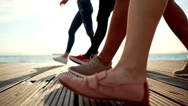 Caminhada do verão com amigos