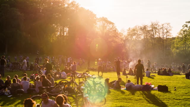 stockvideo's en b-roll-footage met zomer in het park - event