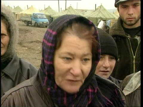 Chechnya Crisis Vox pops SOT **audio echo on the russian speakers voice over fine**