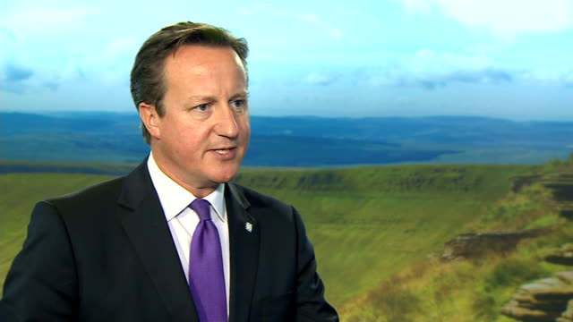 david cameron interview on islamic state threat wales newport int david cameron mp interview sot on potential air strikes against islamic state... - isil conflict stock videos & royalty-free footage
