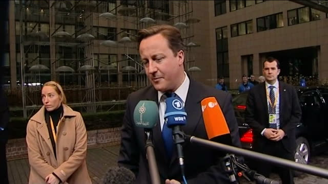 David Cameron makes concessions on Eurozone deal EXT David Cameron MP interview SOT Need to get really serious about growth agenda in Europe / That...