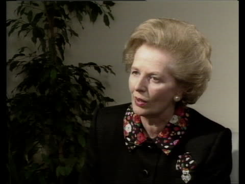 Day 2 C4N SPAIN Madrid Mrs Thatcher intvwd on divisions within EEC VIDEO ex ENGvia TVE