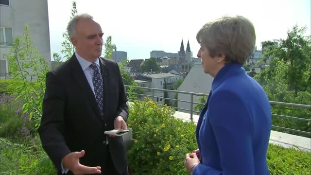 donald trump and vladimir putin meet for first time hamburg g20 summit ext theresa may mp interview sot [uk influence bound to decline with uk exit... - group of 20 stock videos & royalty-free footage