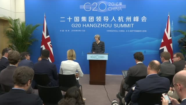 final day of summit / brexit discussion int various shots theresa may along to lectern and speaking at press conference theresa may mp press... - group of 20 stock videos & royalty-free footage