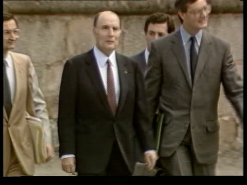 ms faces of finance ministers fontainebleau cms more ms ditto cms minister stands cms claude cheysson french foreign minister and hansdietrich... - präsident stock-videos und b-roll-filmmaterial