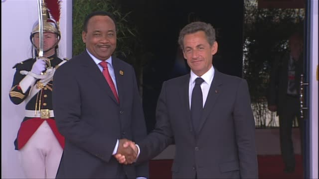 g8 summit host president nicolas sarkozy of france has outlined a $40 billion package of aid and loans for the countries of the arab spring tunisia's... - calvados stock videos and b-roll footage