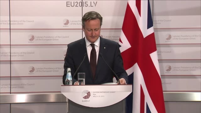 David Cameron press conference in Riga David Cameron QA session SOT