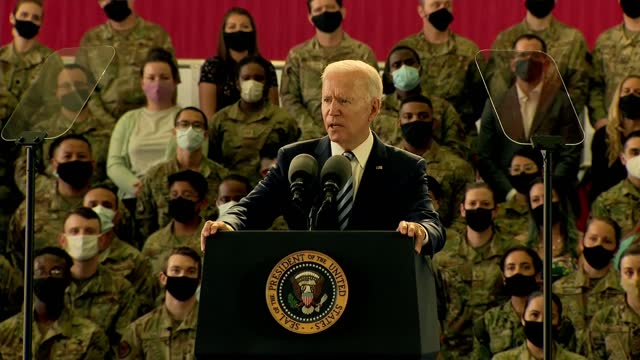 joe biden speech at raf mildenhall; part 5 of 12 england: suffolk: raf mildenhall: int joe biden speech sot. - and i'm so proud to be here with all... - kicking stock videos & royalty-free footage