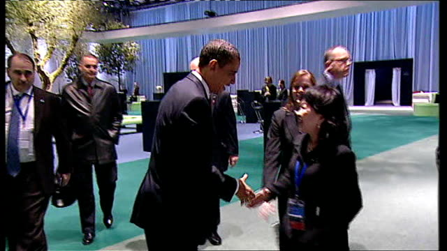 leaders reach deal on economy england london docklands excel centre int barack obama along and shaking hands - g20 leaders' summit stock videos & royalty-free footage