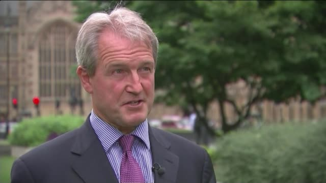 david cameron comments on eu referendum 'misinterpretation' owen paterson mp interview sot i do think these proposals on purdah are unacceptable - owen paterson stock videos and b-roll footage