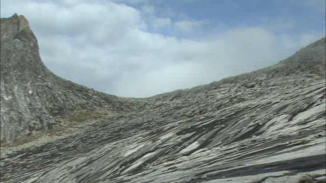 summit of mount kinabalu in malaysia  - rock face stock videos & royalty-free footage