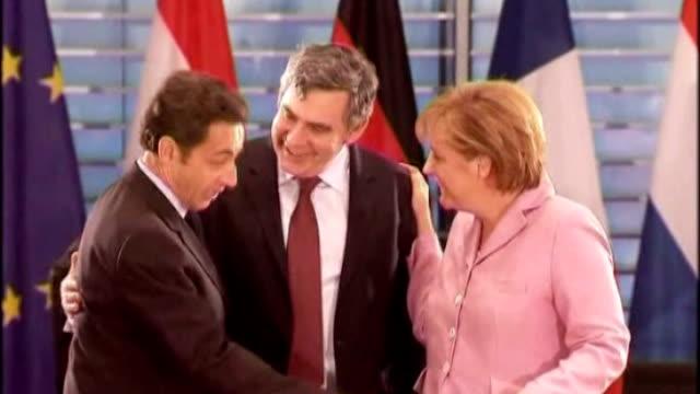 Prospects for global agreement DATE Gordon Brown MP Angela Merkel and Nicholas Sarkozy at EU Summit