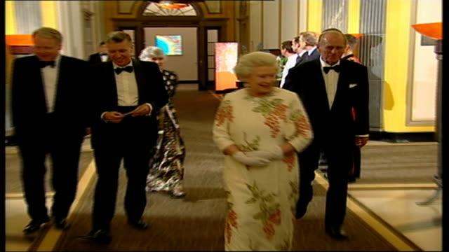queen meets g8 leaders scotland gleneagles hotel gvs photocall of g8 leaders george w bush paul martin jacques chirac junichiro koizumi silvio... - content stock videos & royalty-free footage