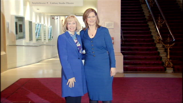 sarah brown entertains leaders wives sarah brown greeting laureen harper wife of canadian prime minister stephen harper and posing for photocall /... - g20 leaders' summit stock videos & royalty-free footage