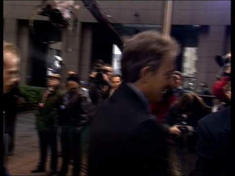 talks break down itn belgium brussels car pulls up outside venue and tony blair mp out ms blair shaking hands as along to venue blair and jack straw... - jack straw stock videos and b-roll footage