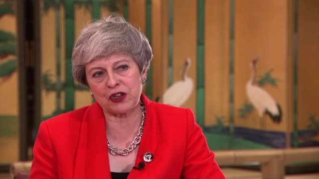 theresa may interview japan osaka int theresa may mp interview sot re her upcoming meeting with russian president vladimir putin following sergei... - theresa may stock videos & royalty-free footage
