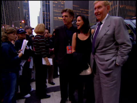 sumner redstone and tom freston arriving on the red carpet at the 2002 mtv video music awards - mughal empire stock videos and b-roll footage