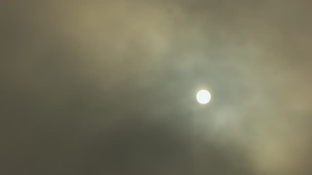 ms sun against hazy clouds / bartholomew county, columbus, indiana, united states - columbus indiana stock videos & royalty-free footage