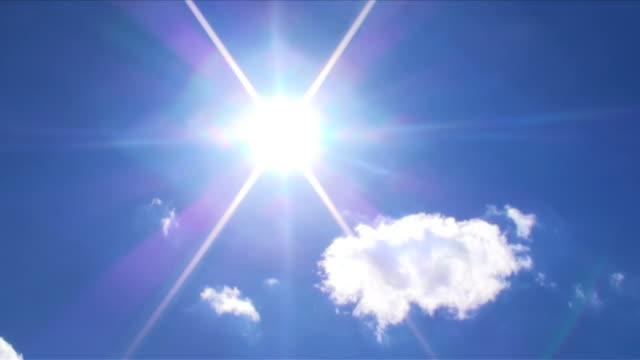 sun and cloud in blue sky-2 - brightly lit stock videos & royalty-free footage