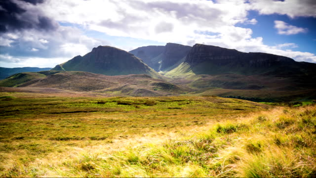 Sun and Clouds in the mountains of Quiraing - Isle of Skye - Scotland