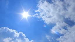 Sun and cloudscape