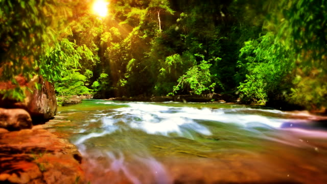 sun and mountain river - dawn stock videos & royalty-free footage