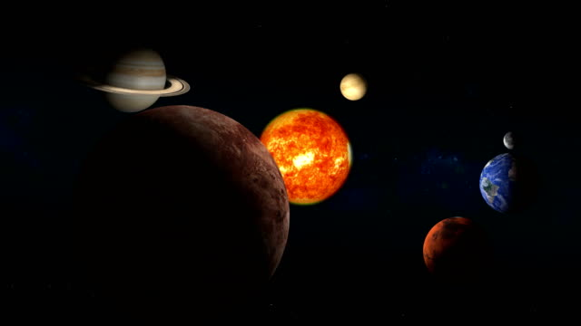 sun and planets of the solar system animation - origins stock videos & royalty-free footage