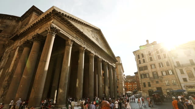 sun and rain by the pantheon in rome - pantheon rome stock videos and b-roll footage