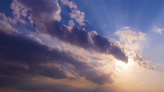 sun and sunlight in afternoon sky. - sunbeam stock videos & royalty-free footage