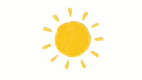 stockvideo's en b-roll-footage met de animatie van de zon orginal wit - sun