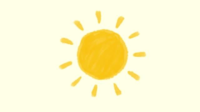 sun animation - illustration stock videos & royalty-free footage