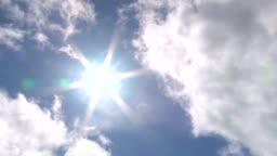 Sun Break in the Cloudy Sky