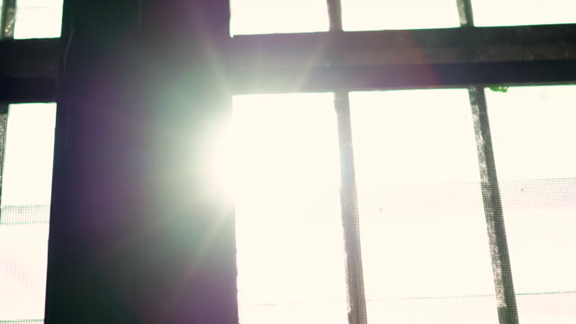 sun flare from window sliding shot - boundary stock videos & royalty-free footage