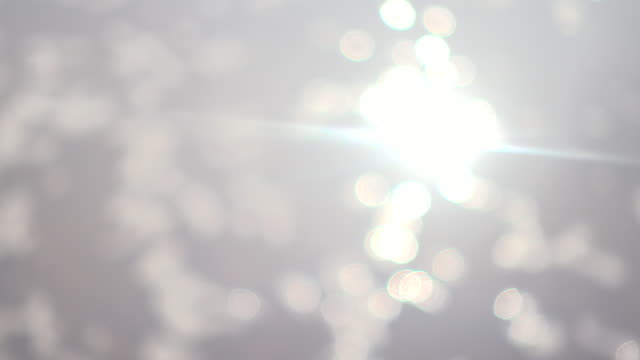 Sonne Flackern auf Wasser 4 K